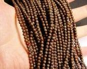 Obsidian 4 mm AA quality - 98 beads per strand - full strand - brown snowflake obsidian - RFG477
