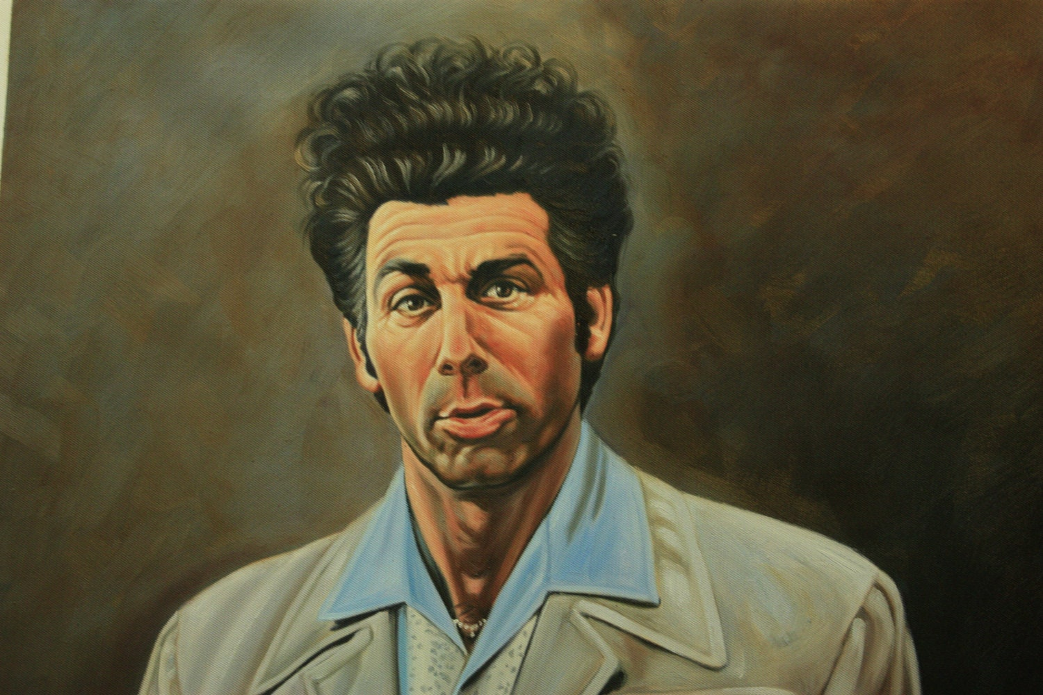 Seinfeld Cosmo Kramer reproduction painting 24x36. 100%