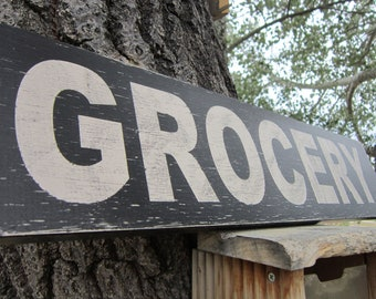 GROCERY Sign - Rustic Farmhouse Sign