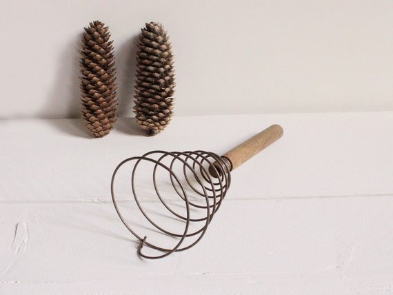 Vintage French whisk, An old, wire kitchen wisk