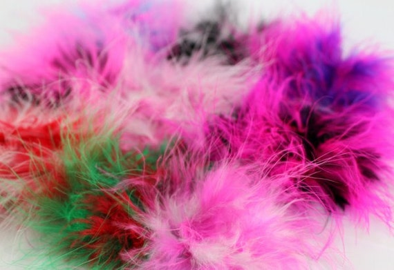 Set of 10- Marabou Puffs-You Choose Colors (Check Stock List Below)
