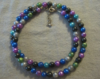Colorful Plastic Beaded Necklace