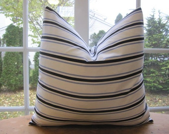 Pillow, Decorative Throw Pillow Cover, Designer Bungalow Stripe Pillow Cover 18 x 18, 20 x 20, 22 x 22, 24 x 24