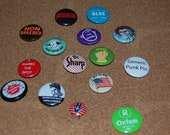 Domestically Challenged, Bad Hair Day, and More - Lot of Assorted Vintage Pinbacks