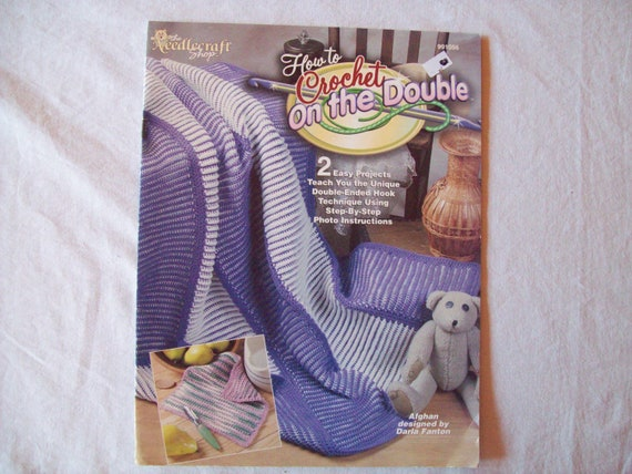 Crochet On The Double : How to Crochet on the Double Book, Afghan stitch, Tunisian, Crochet ...
