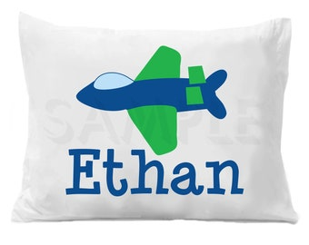 Airplane Pillow Case Personalized Pillowcase