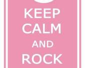 Print PosterKeep Calm Rock On - Nursery Print 11x17 Poster Buy 1 Get 1 Free Sale Print Poster
