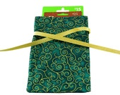 ON SALE Reusable Holiday fabric gift bag for gift card or jewelry