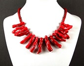 Red Branch Coral Necklace - N272A