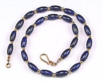 Lapis Lazuli 14K Gold Filled Necklace - N327