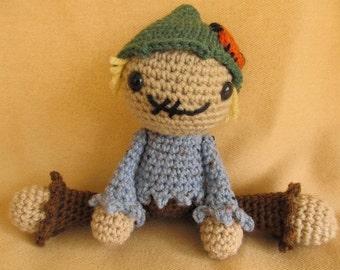 Not so Scary Scarecrow Crochet Amigurumi Pattern