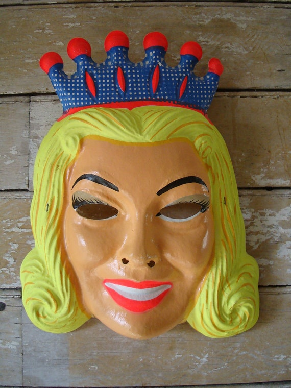 Vintage Queen Mask Halloween Rare Find 1950s or 60s