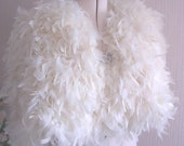 Handmade Bridal Cape Chandelle Feather Alternative Winter Wedding