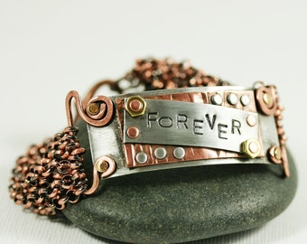 Customizable Cuff Bracelet Mixed Metals