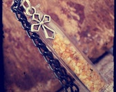 Vampire Protection Talisman / Vial Necklace with Cross Charm by Dryw on Etsy