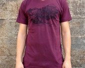 Mess T-shirt, Men's American Apparel Heather Cranberry Red Tri-Blend Tee