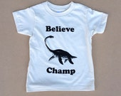 Believe Champ Kids Organic T-shirt, Youth American Apparel Natural Cream Tee