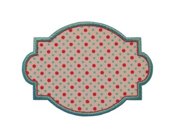 "Vintage Frame Machine Embroidery Applique Design Pattern in 5 sizes 3"", 4"", 5"", 6"" and 7"""