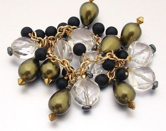 14kt GF Crystal Quartz & Shell Pearl Charm Bracelet