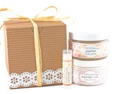 Body Lotion, Body Polish & Lip Balm Gift Set - Paraben Free - Your Choice of Scents