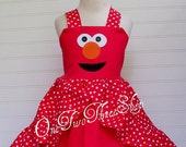Custom Boutique Clothing ELMO  Sassy Girl Dress