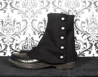 Victorian men's pinstripe spats
