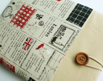 iPad case sleeve for ipad 2, new ipad -PADDED-FRONT POCKET- Uk newspaper