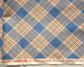 American Jane Happy Campers blue plaid moda fabrics FQ or more