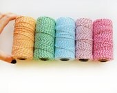 25 Yards of Bakers Twine, choose 1 color - TWINE trim not in Spool A93