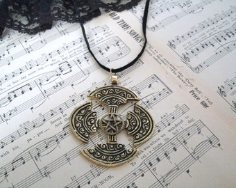 Celtic Pentagram Necklace, wiccan jewelry pagan jewelry wicca jewelry celtic jewelry druid witch witchcraft magic pentacle metaphysical