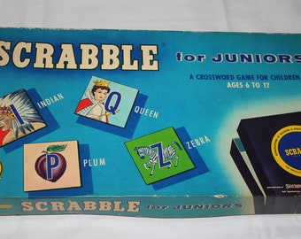 Vintage Scrabble Game for Juniors No. 18 1958