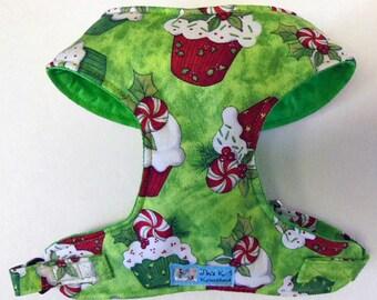 Christmas/Winter Cupcake Comfort Soft Dog Harness - Made to order -