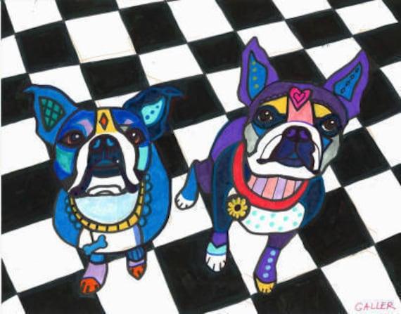 60% Off- Boston Terrier Art Print Art Poster Dog art dog (HG202)