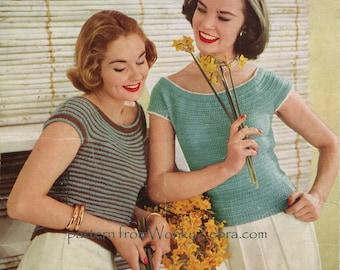 Vintage Knit Cap Sleeved Jerseys Pattern PDF 430 from WonkyZebra