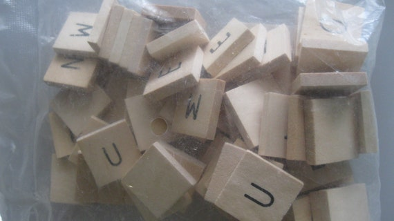 Scrabble Tiles 60 Pieces New Sealed In Bag