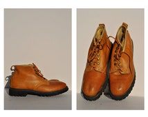 vintage work boots vintage leather boots lace up REI mountain hiking 12 1/2 e