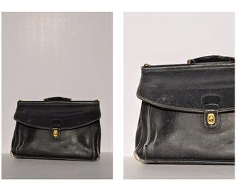 COACH leather bag satchel attache tote briefcase tote distressed