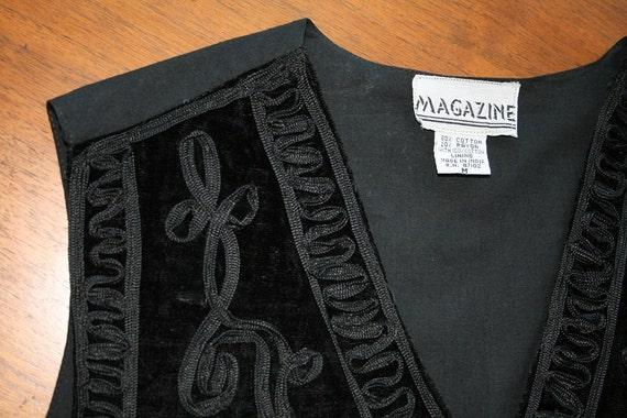 VTG Black Velvet Layering Vest