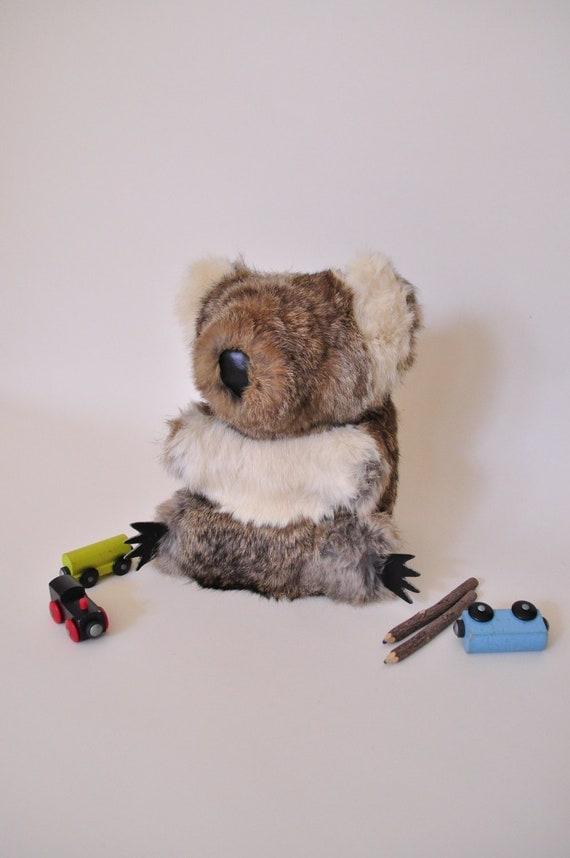 Vintage Fur Koala Bear
