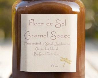 Fleur de Sel Caramel Sauce 6oz Sweet Salty Caramel Ice Cream Sundae Topping