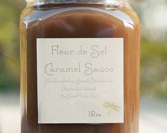Fleur de Sel Caramel Sauce 12oz Sweet Salty Caramel Ice Cream Sundae Topping