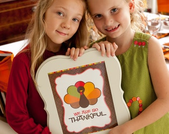 We are So Thankful Kid's Thanksgiving Printables