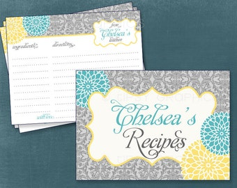 Recipe or Advice & Well Wish Cards. Lace Mums.  By Tipsy Graphics.  Printable Cards, Any Colors