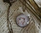 "Necklace ""Snow Princess"""