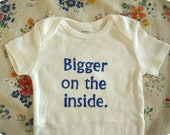 Bigger on the inside--Doctor Who baby bodysuit