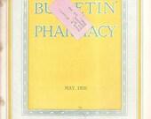 vintage PHARMACY Magazine May 1926  magazine, Advertisement, Articles, Bulletin of Pharmacy, Drugs, Displays, Pharmacology