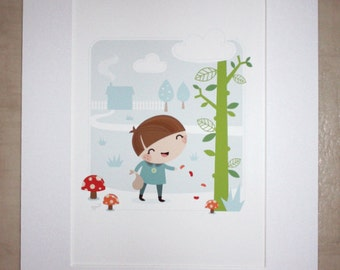 Jack and the Beanstalk Print