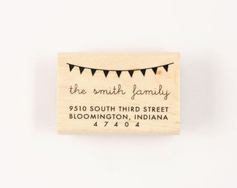 custom rubber bunting address stamp