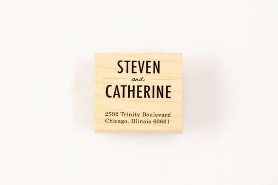 custom simple address stamp