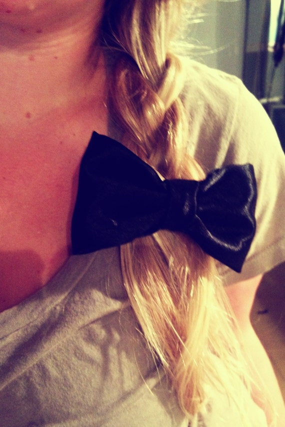Medium Large Hipster Glam Bow Barrette 16 Colors and more to choose from Girly Fall Back to School Prep FREE SHIPPING
